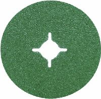 "100mm (4"") x 16mm (5/8"") ceramic abrasive fibre backed sanding discs. Price per 25 discs."
